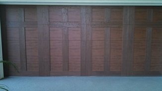clopay canyon ridge rustic faux wood garage door review